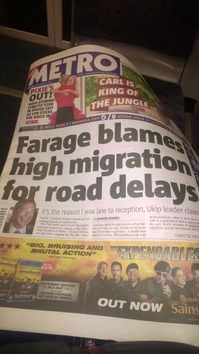 farage road delays